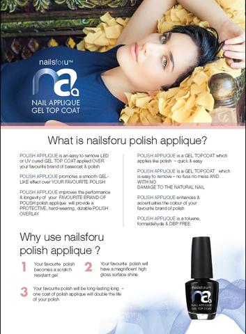 What is nailsforu polish applique?